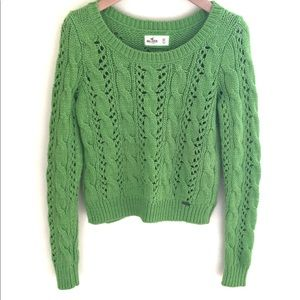 Hollister Chunky Cropped Open Weave Sweater